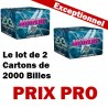 Le Lot de 2 Cartons 2000 billes paintball E.X.E Nordic Hiver