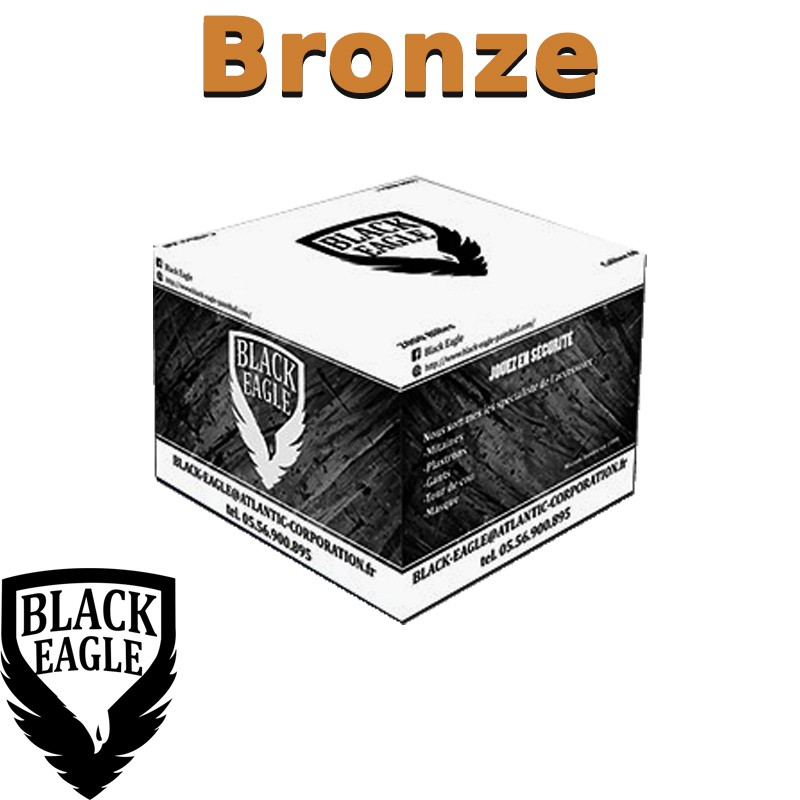Carton de 2000 billes Paintball C68 Bronze