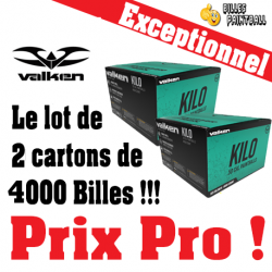 Lot de 2 cartons Cal.50 Valken Kilo